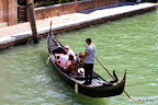 A gondola in action, Venice