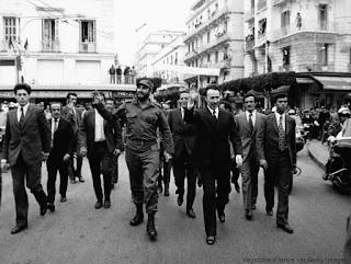 Souvenir de la visite de Castro à Alger