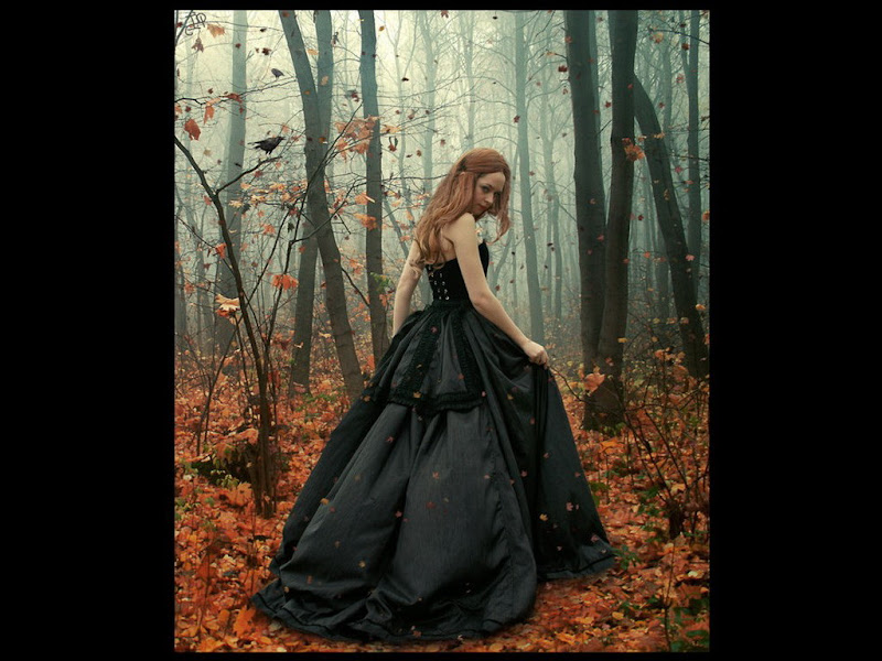 Autumn Forest And A Little Girl, Gothic Girls