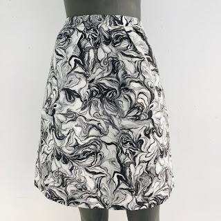 Peter Som Marbled Skirt