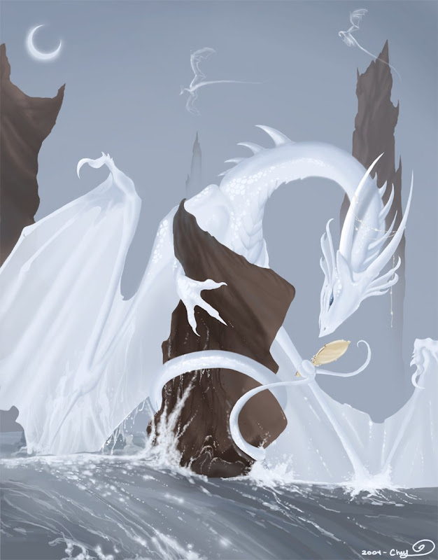White Dragon Prince, Dragons