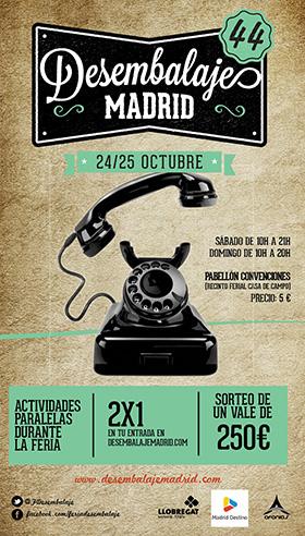 Desembalaje Madrid, 24 y 25 de octubre en el Pabellón Convenciones del recinto ferial Casa de Campo