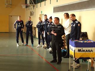Spotkanie z siatkarkami Chemika Police 2016.12.12