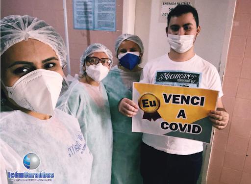 Jovem de 22 anos recebe alta após vencer a Covid 19 no Hospital de Caraúbas