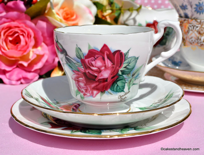 Royal Standard Christian Dior roses fine bone china teacup