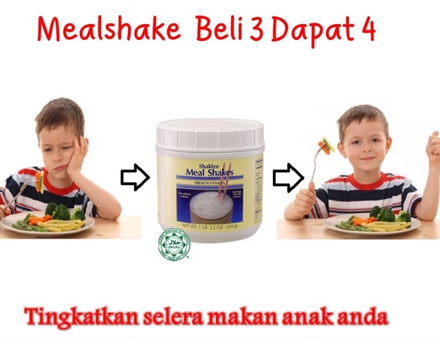 Meal Shakes Shaklee Tambah Selera Anak