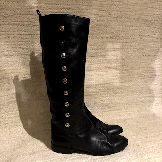 Chanel Black Calf Boots
