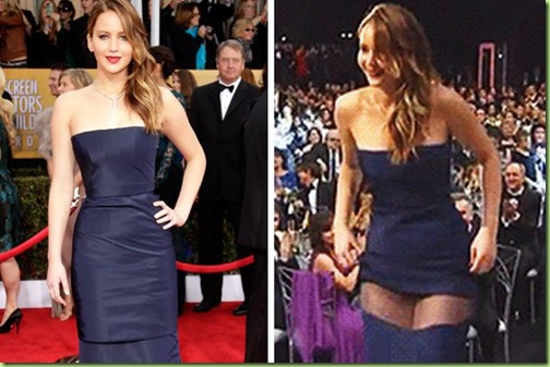 Jennifer Lawrence's wardrobe malfunction