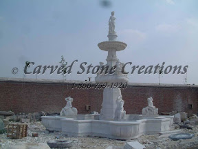 carved stone, Estate, Fountain, Ideas, Natural Stone, Pool, Pool Surrounds, Statuary, Statues, Surround, Tiered