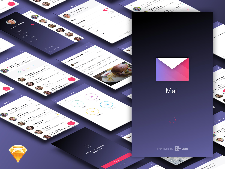 Freebie Mail App Ui Kit
