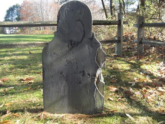 CLARK_Simeon_died 9 Dec 1793_headstone_AshSwampCem_KeeneNH