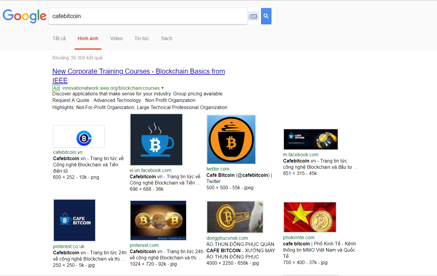 Giao diện Google search \