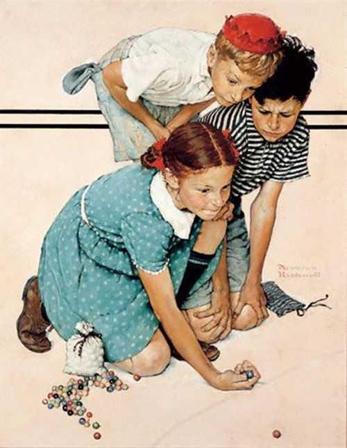 norman rockwell marbles