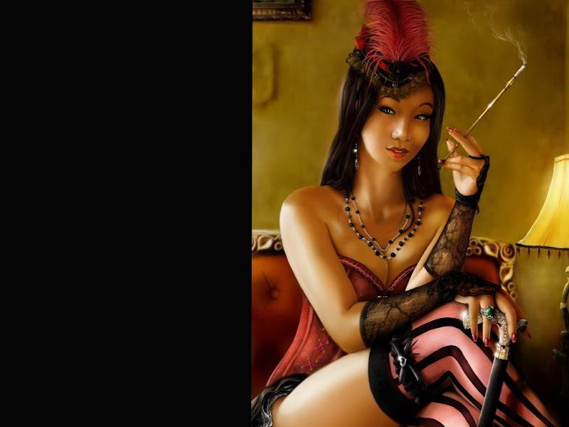 Smoking Samuray Beauty, Magic Samurai Beauties