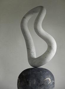 Owello: CARRARA MARBLE, 2017: W 48cm, H 99 cm, D 21 cm; SOLD