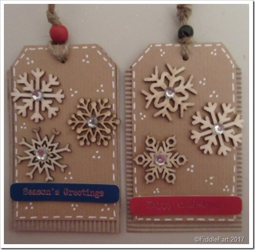 Christmas Snowflake tags
