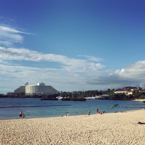 Nabee Beach in Onna, is a great free beach to have a swim at both low or high tide in Okinawa.