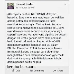 Luahan Calon Naib Ketua Pemuda Umno Yang Tewas