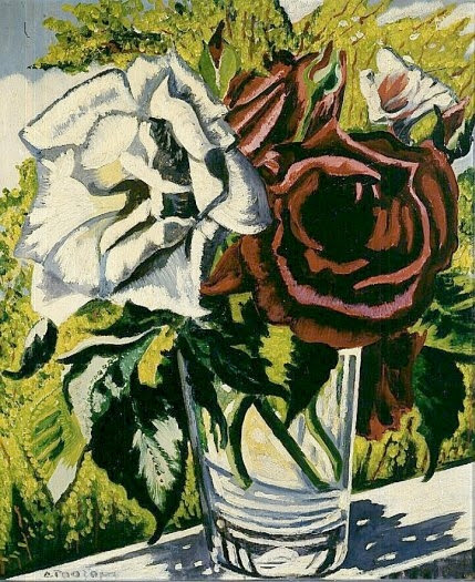 Charley Toorop - Roses in a glass