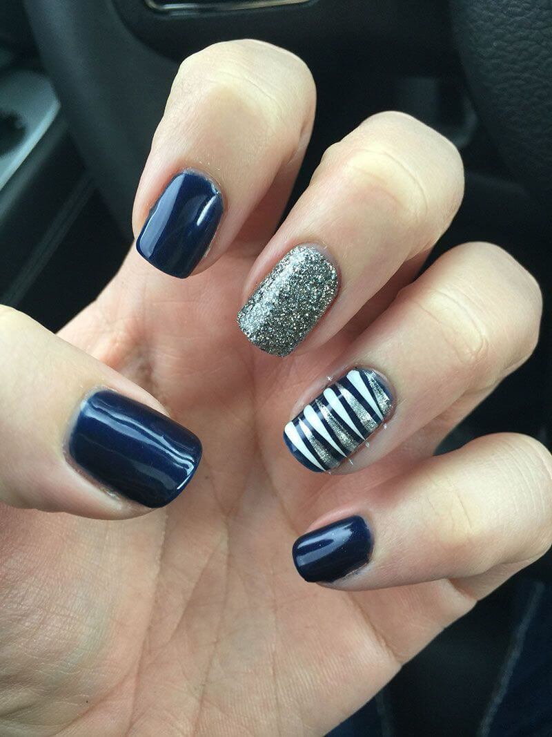 Blue Nail Art Ideas Of Manicure Fashionre
