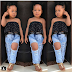 2yr Old little Nigerian Girl Breaks The Internet After Wearing Ripped Jeans (photos)