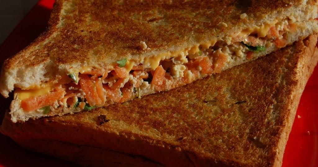 Roshni S Kitchen Carrot Tofu Sandwich