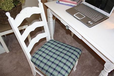 Customizando móveis para escritório - cadeira customizada