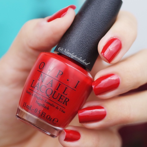 OPI Got the Mean Reds - Breakfast at Tiffany's Holiday Collection 2016 Swatch