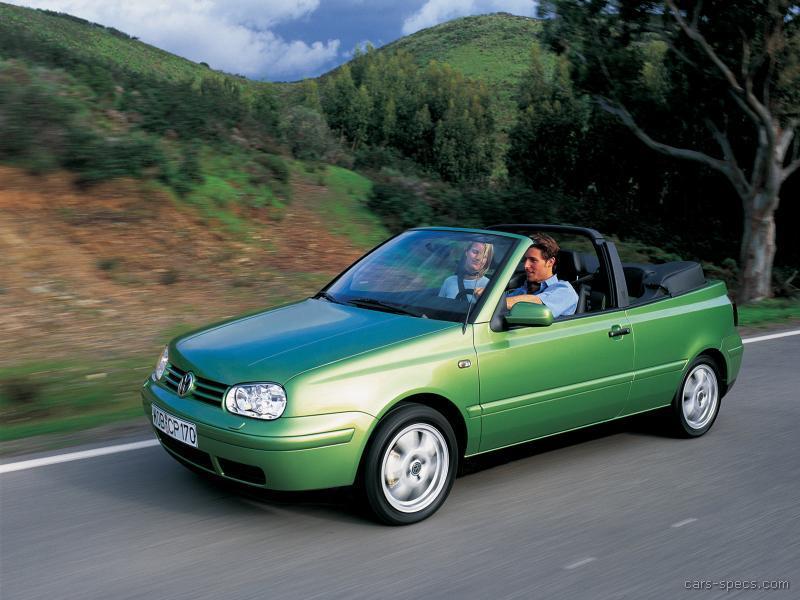 1996 Volkswagen Cabrio Convertible Specifications