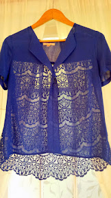 March 2015 Stitch Fix find of Skies are Blue Devon Lace Back Blouse