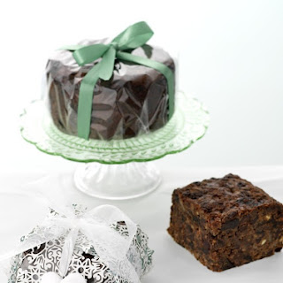 Brandied Fruit, Chocolate and Spice Christmas Cake Recipe