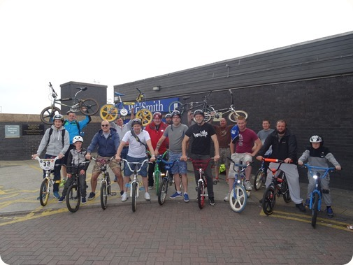 Air Series of Old school BMX Rides gathered at Crewe  railway station