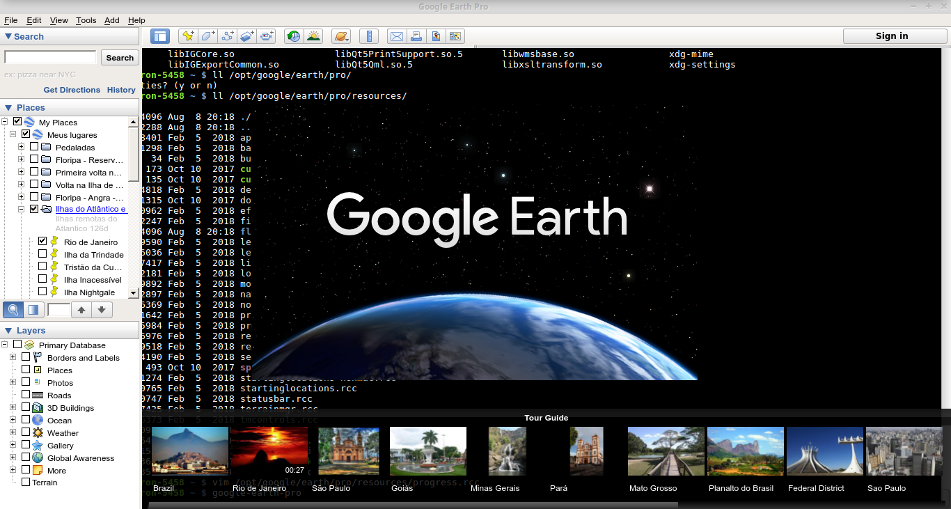 Google earth pro does not show maps on Linux - Google Maps Help