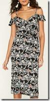 Oasis Floral Wrap Midi Dress