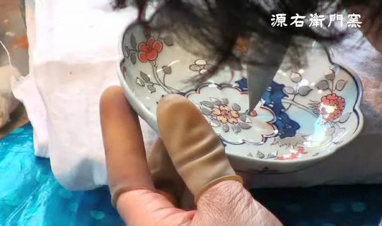 染錦更紗手花蝶文豆皿 げんえもん プールアニックオンラインショップ