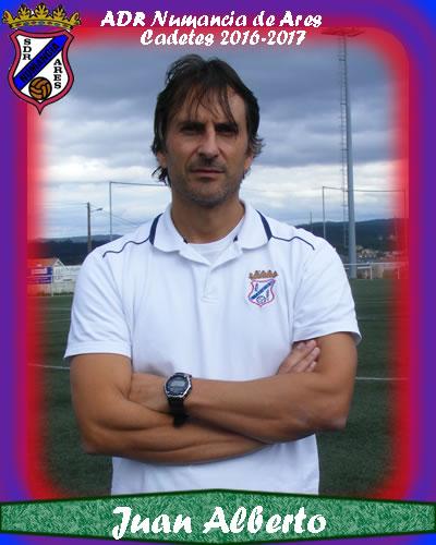 ADR Numancia de Ares. Cadetes 2017-2018. Juan Alberto entrenador.