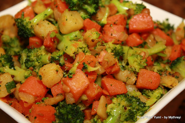 Carrot Potato Broccoli Fry