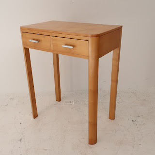 Modern Maple Two-Drawer End Table