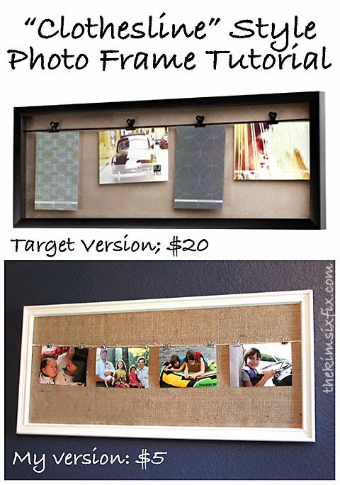 Clothesline Style Photo Frame Tutorial (Target Knock Off)
