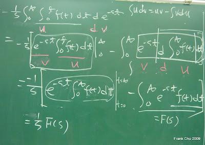 積分式的拉氏轉換證明