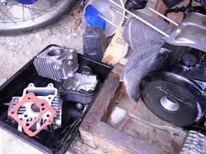 カブのエンジン分解