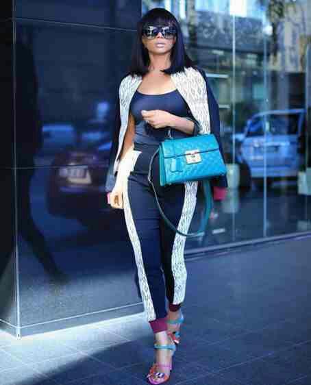 Toke Makinwa Steps fashion