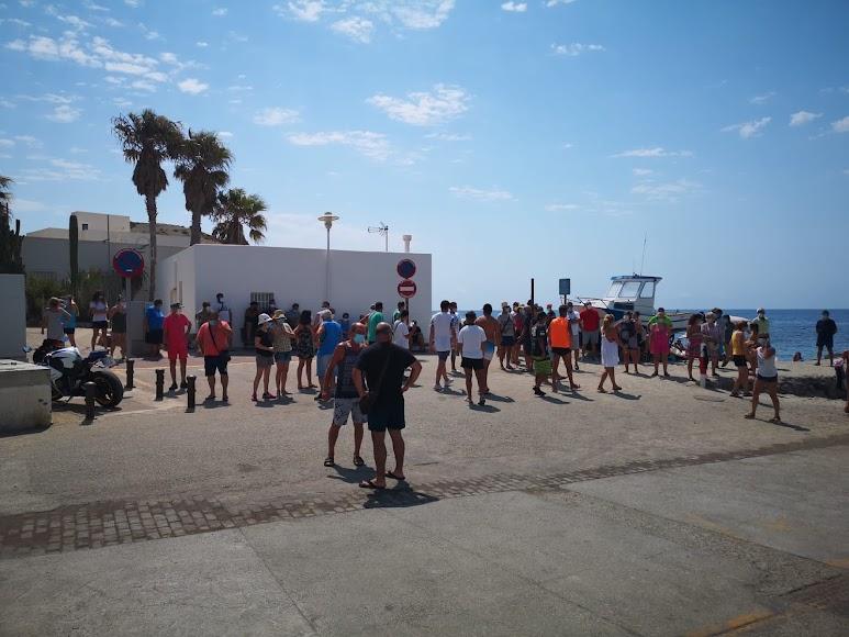 Reivindicación en la Isleta del Moro.