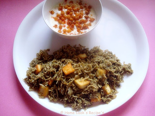My Boondhi Raita  http://homecookreceipes.blogspot.com/2009/03/paneer-mint-rice-with-boondhi-raita-and.html