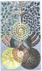 Tree Of Dark And Light From Valentine Weigel Studium Universale 1695, Alchemical And Hermetic Emblems 1