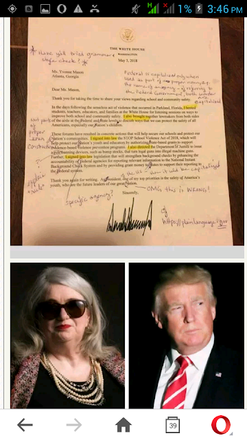 Retired English Teacher Corrects Trump Letter, Sends It Back-photo