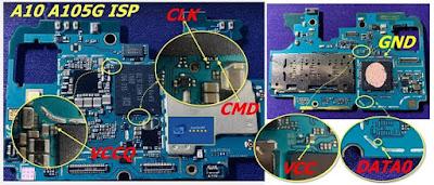 ISP PinOut Samsung SM-A105G