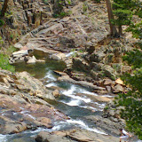 Lower Glen Falls behind Fallen Leaf Lake