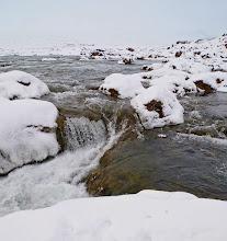 Photo: Al borde del inicio de una parte de la cascada.