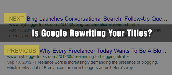 Is Google rewriting your page titles